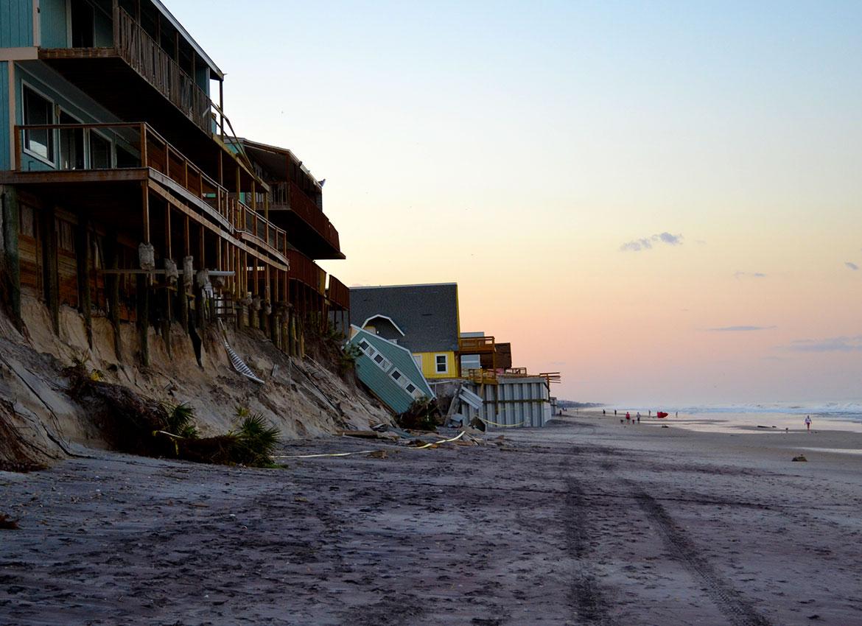 Hurricane Irma's Mark At Vilano Beach - Explore Old City